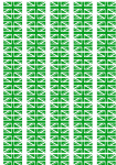 Great Britain Green Flag Stickers - 65 per sheet